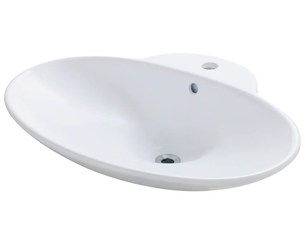 Polaris P062V-w White Porcelain Vessel Sink