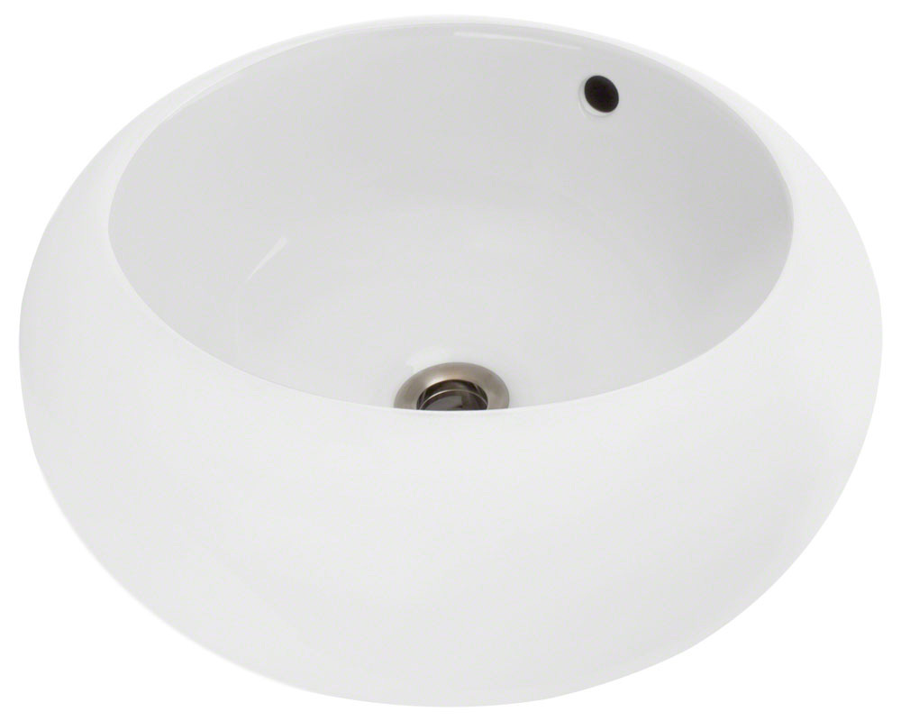 Polaris P2082V-w White Porcelain Vessel Sink