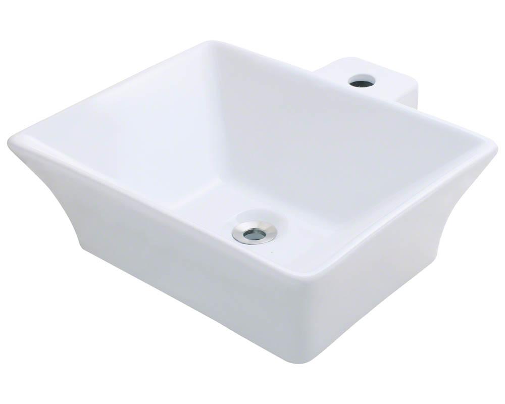 Polaris P092V-w White Porcelain Vessel Sink