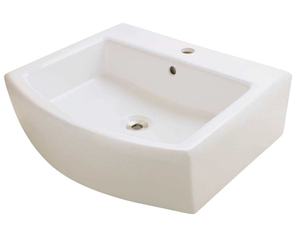 Polaris P003V-b Bisque Porcelain Vessel Sink
