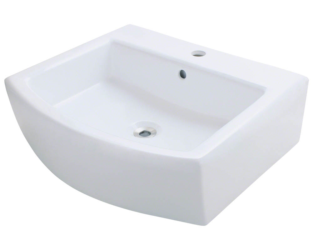 Polaris P003V-w White Porcelain Vessel Sink