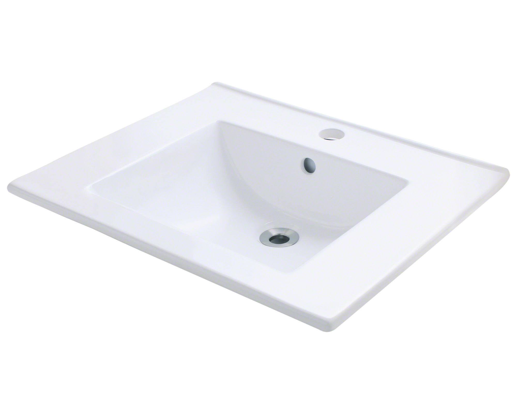 Polaris P013V-w White Porcelain Vessel Sink