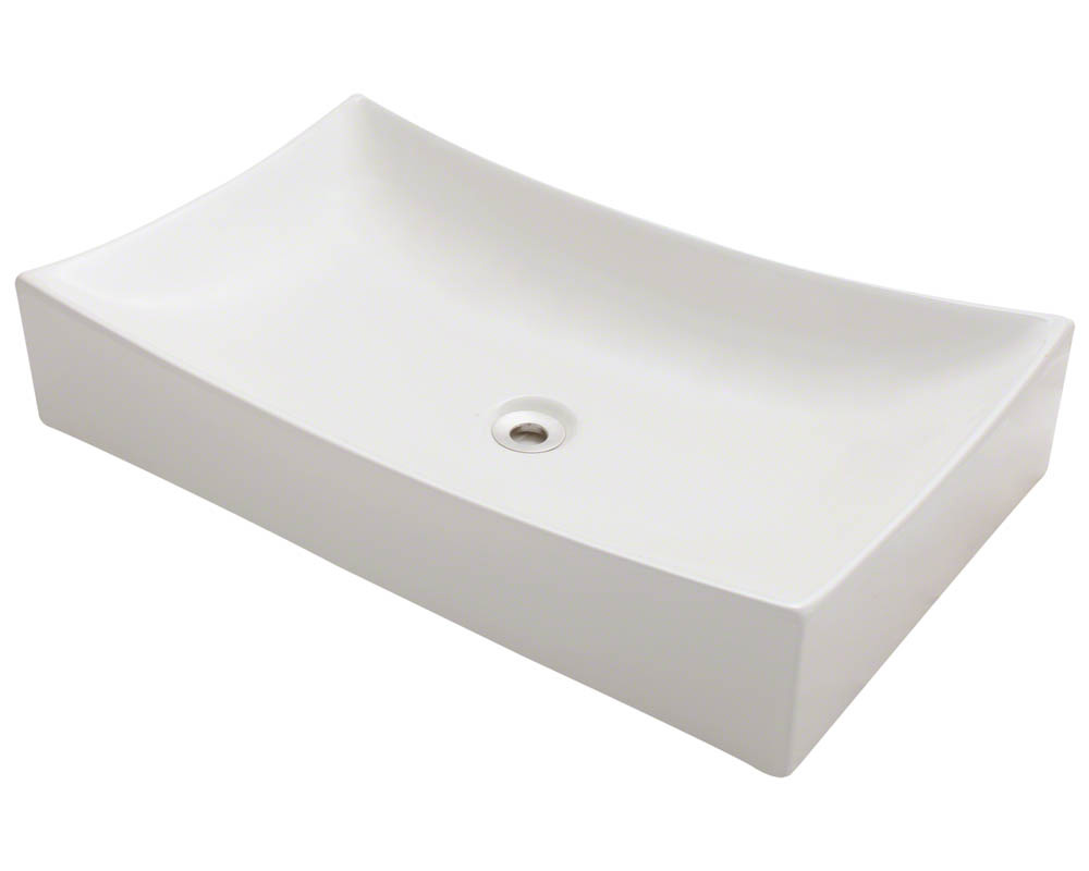 Polaris P033V-b Bisque Porcelain Vessel Sink