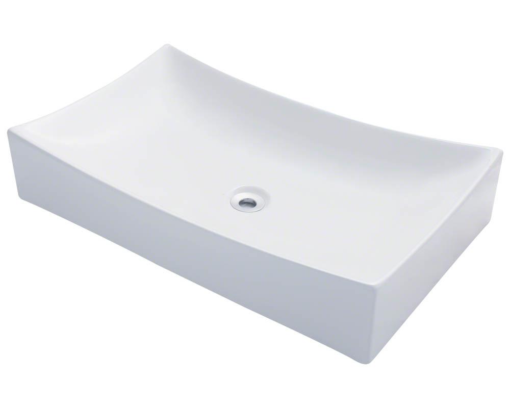 Polaris P033V-w White Porcelain Vessel Sink