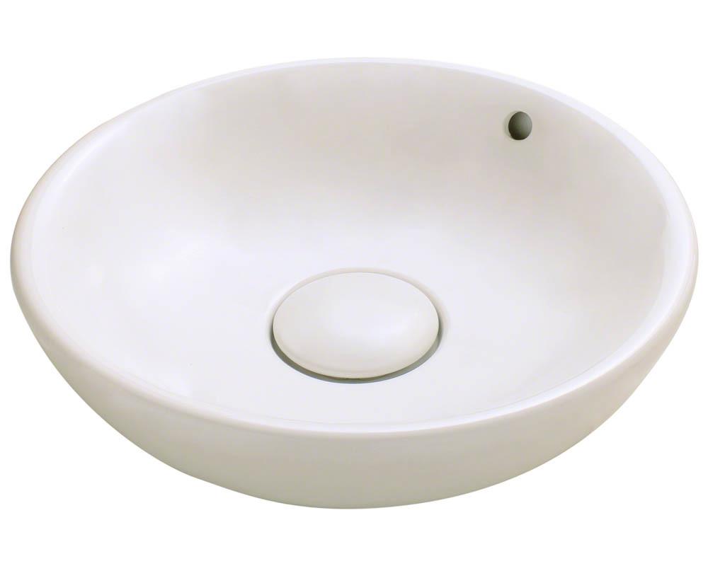 Polaris P043V-b Bisque Porcelain Vessel Sink