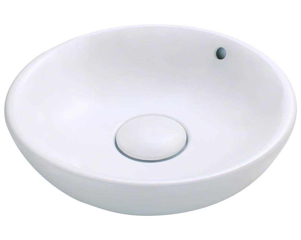 Polaris P043V-w White Porcelain Vessel Sink