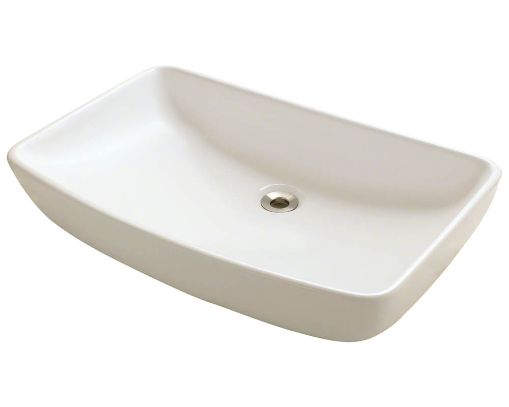 Polaris P053V-b Bisque Porcelain Vessel Sink