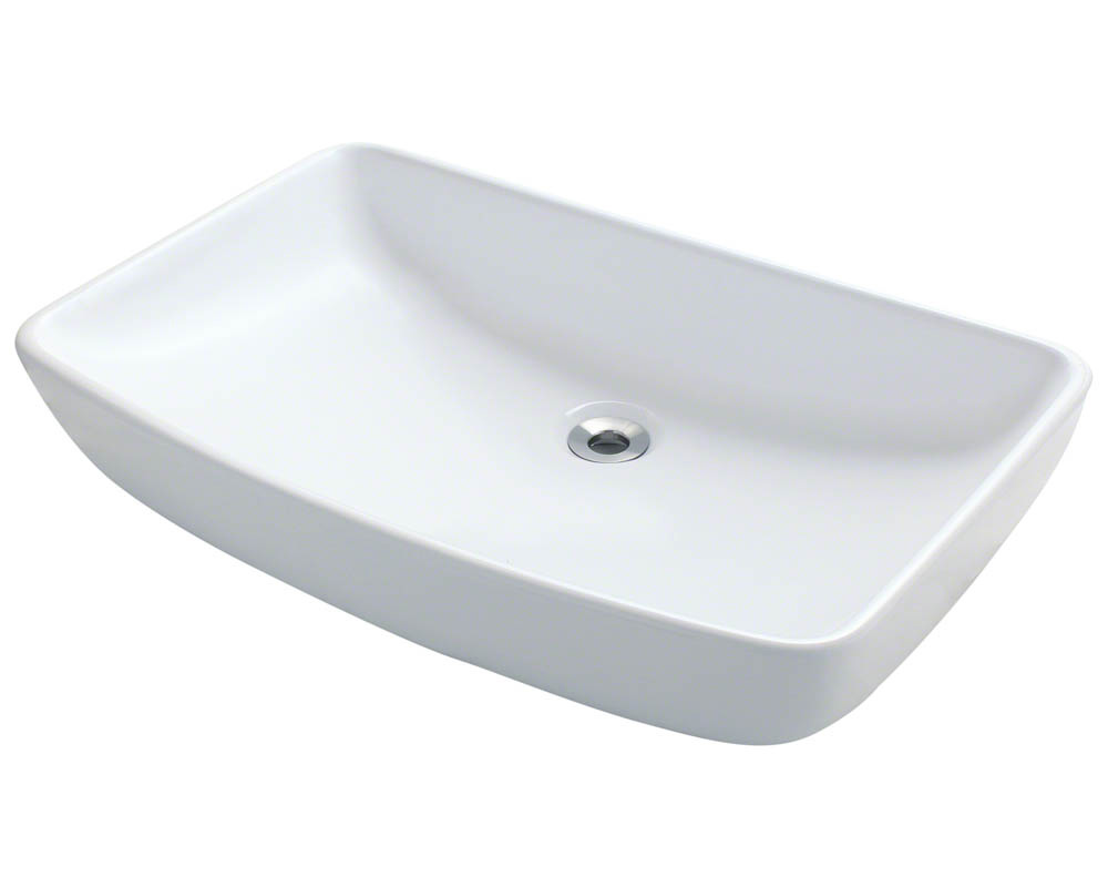 Polaris P053V-w White Porcelain Vessel Sink