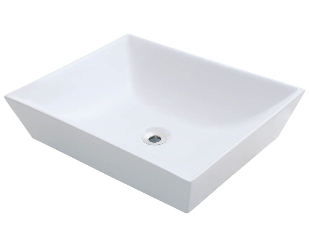 Polaris P073V-w White Porcelain Vessel Sink