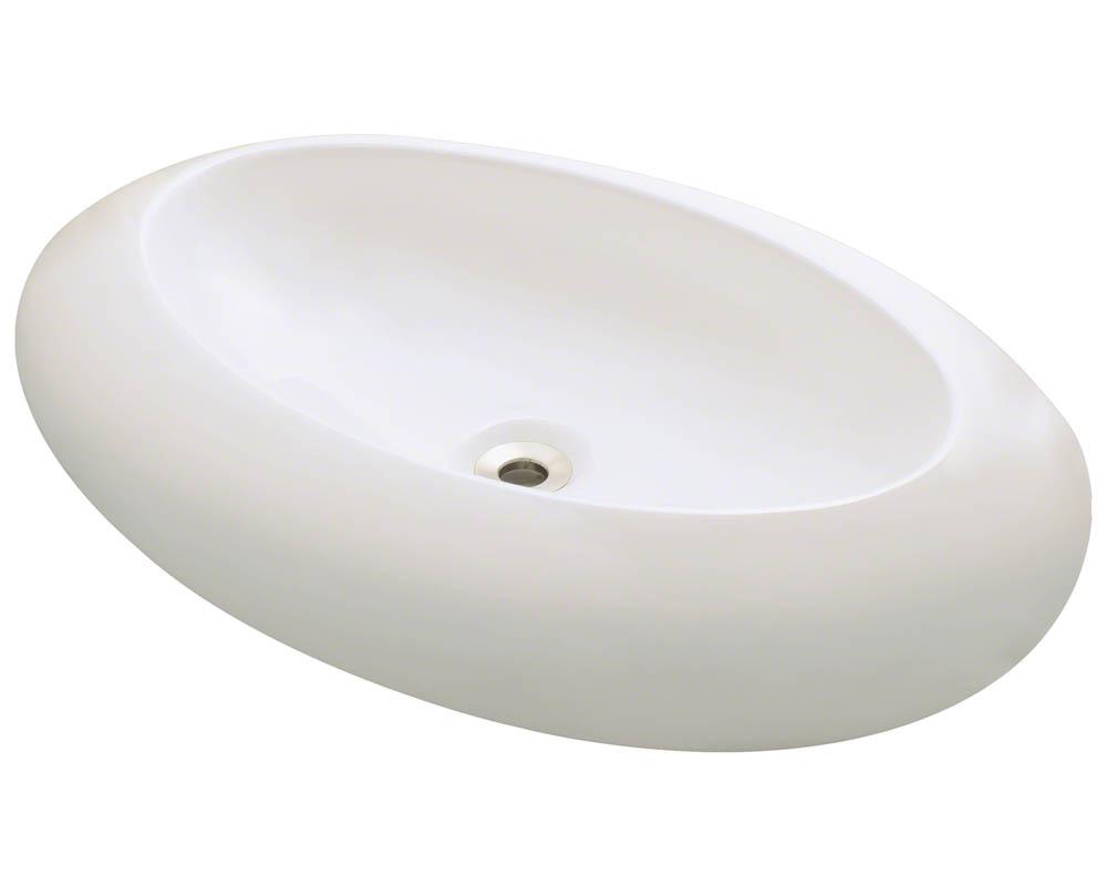 Polaris P08V-b Bisque Porcelain Vessel Sink