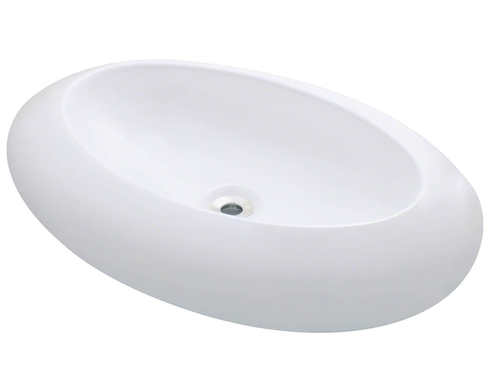 Polaris P08V-w White Porcelain Vessel Sink