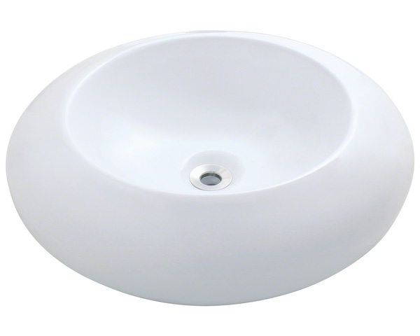 Polaris P09V-w White Porcelain Vessel Sink