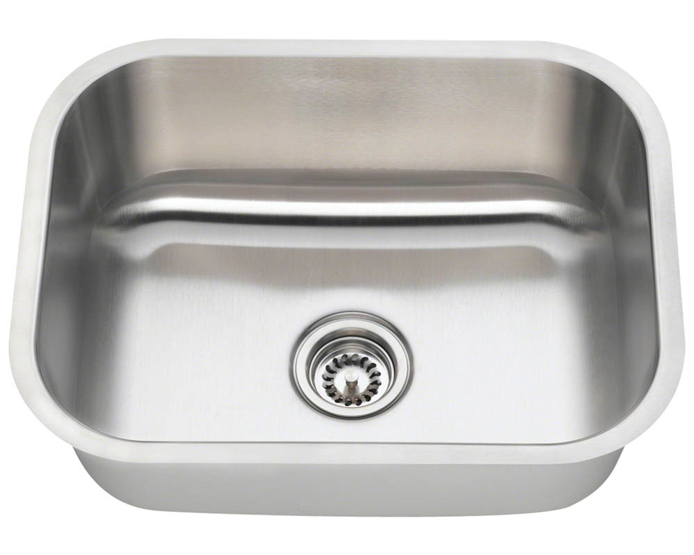 Polaris P8132-18 Single Bowl Stainless Steel Kitchen Sink