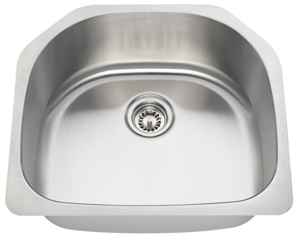 Polaris P1242-18 Single Bowl Stainless Steel Kitchen Sink