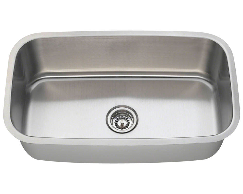 Polaris P813-16 Single Bowl Stainless Steel Kitchen Sink