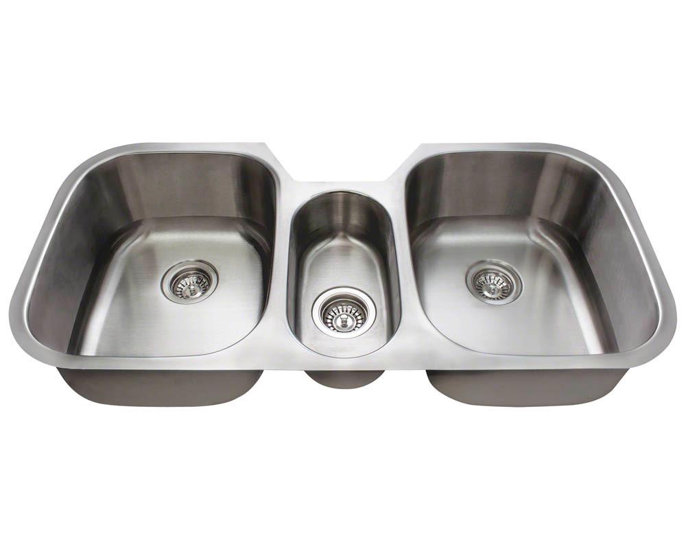 Polaris P1254-18 Triple Bowl Stainless Steel Kitchen Sink