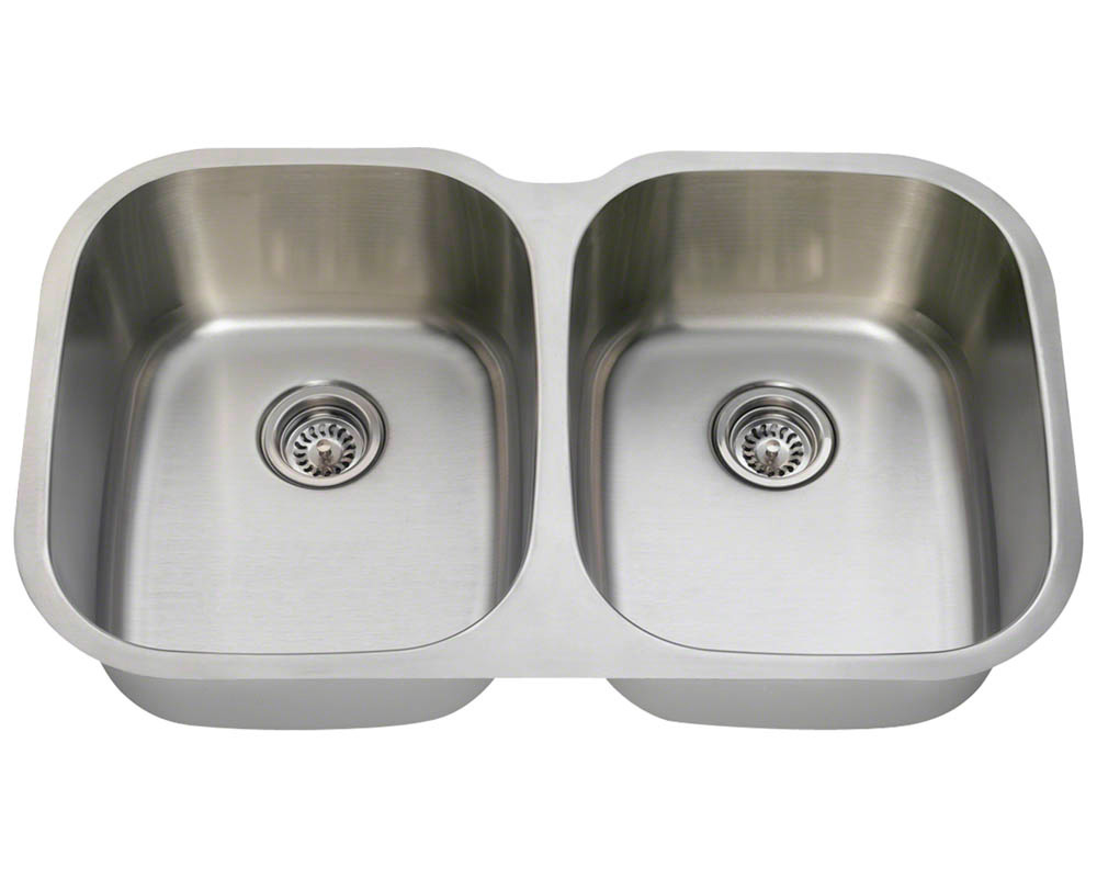 Polaris P405-18 Equal Double Bowl Stainless Steel Kitchen Sink
