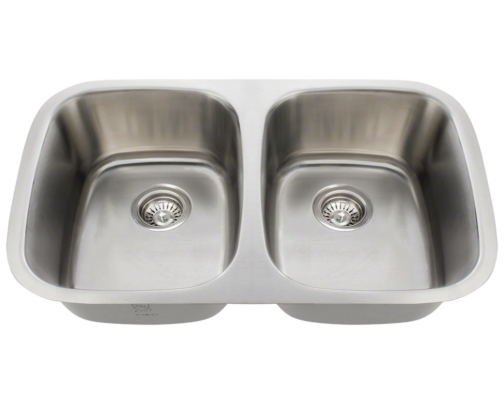 Polaris P015-18 Equal Double Bowl Stainless Steel Sink