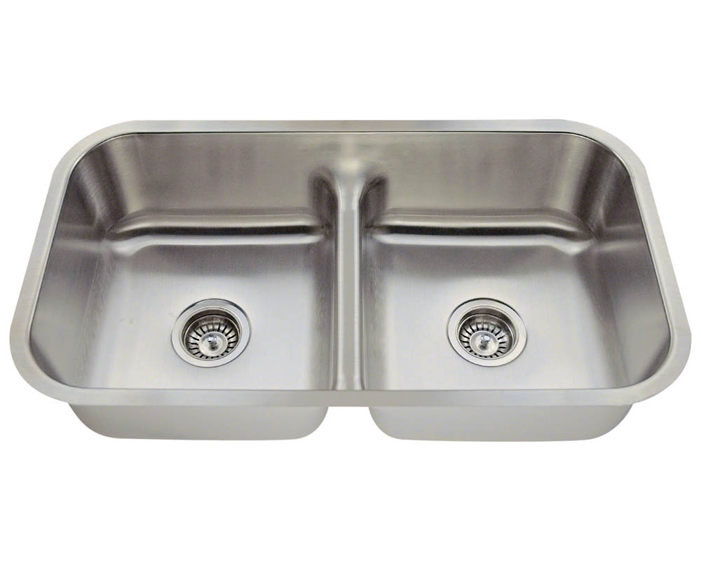 Polaris P215-18 Half Divide Stainless Steel Kitchen Sink