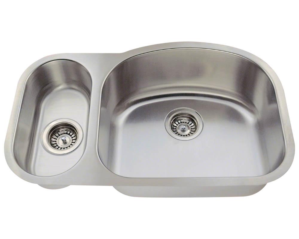 Polaris PR925 Offset Stainless Steel Kitchen Sink