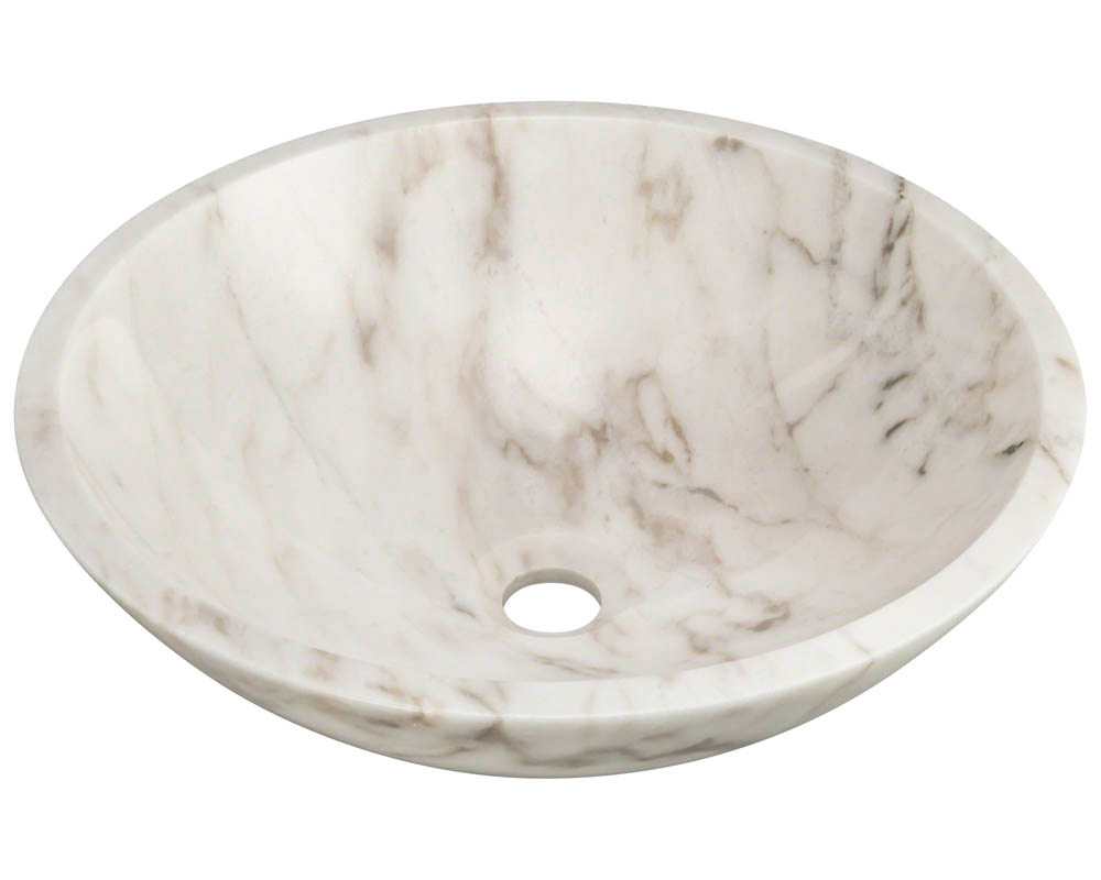 Polaris P058W White Granite Vessel Sink