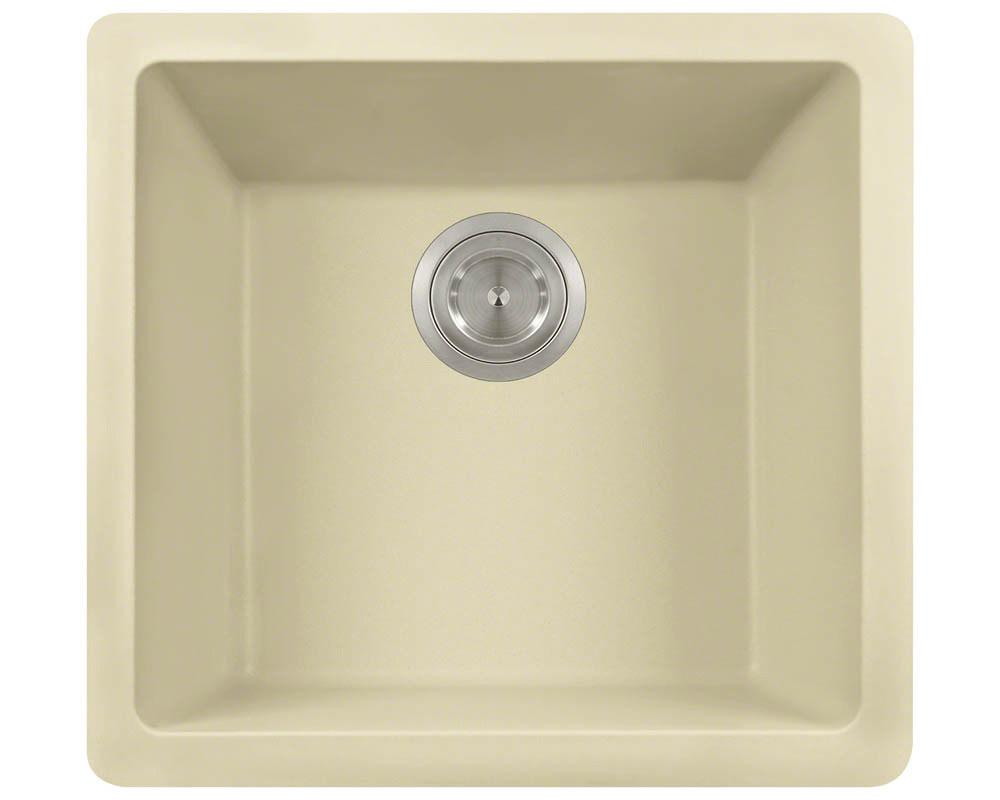 Polaris P508 Beige Astragranite Single Bowl Kitchen Sink