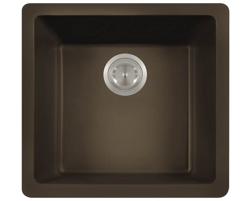 Polaris P508 Mocha Astragranite Single Bowl Kitchen Sink