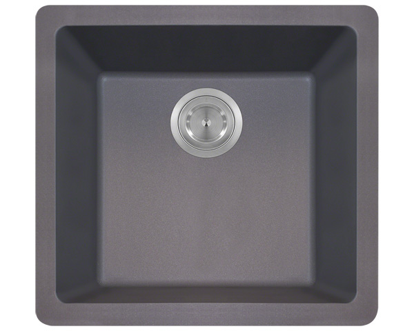 Polaris P508 Silver Astragranite Single Bowl Kitchen Sink