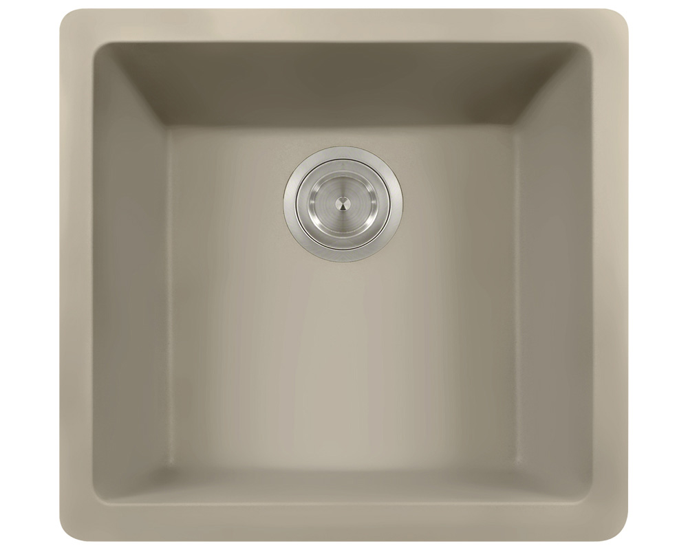 Polaris P508 Slate Astragranite Single Bowl Kitchen Sink
