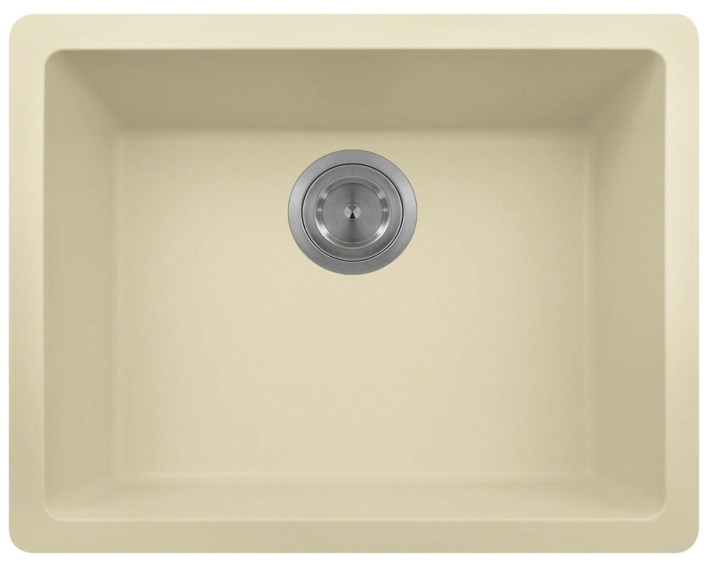 Polaris P808 Beige Astragranite Single Bowl Kitchen Sink