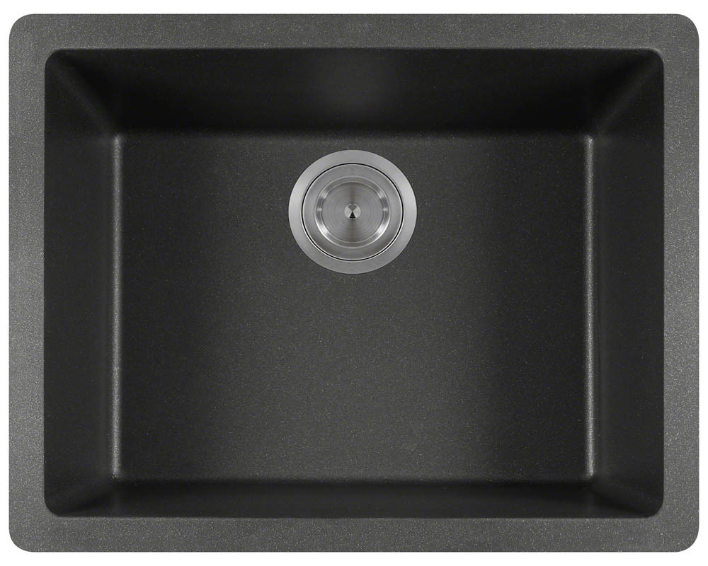 Polaris P808 Black Astragranite Single Bowl Kitchen Sink