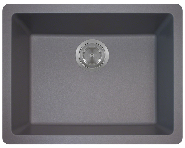 Polaris P808 Silver Astragranite Single Bowl Kitchen Sink