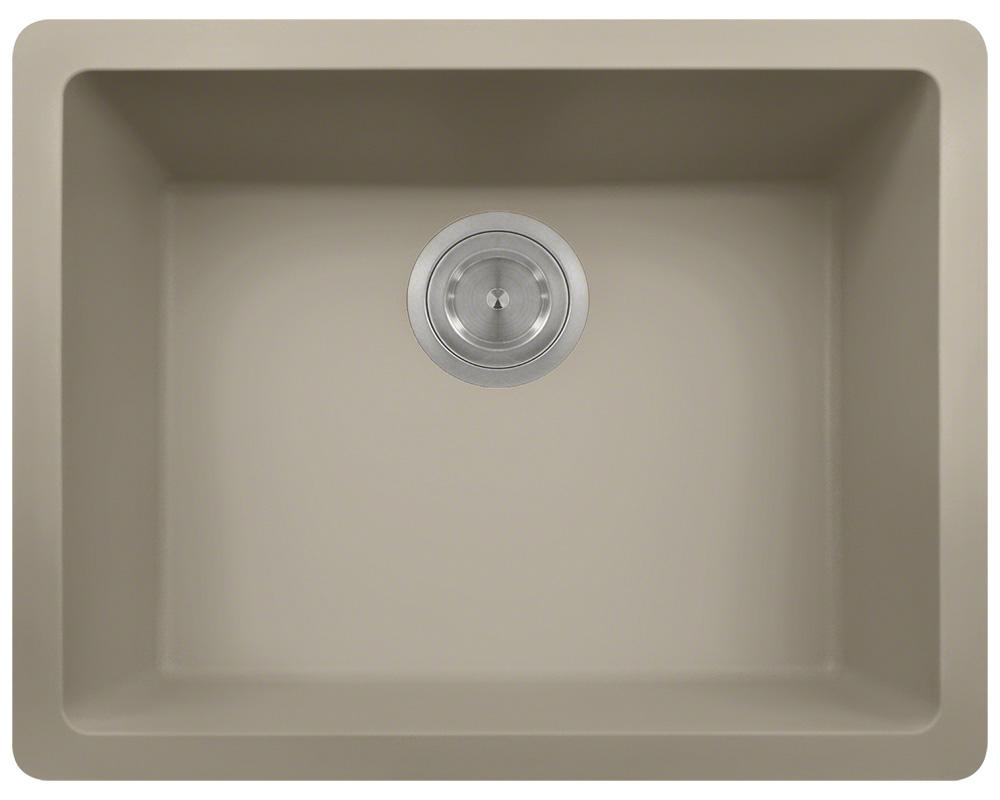 Polaris P808 Slate Astragranite Single Bowl Kitchen Sink