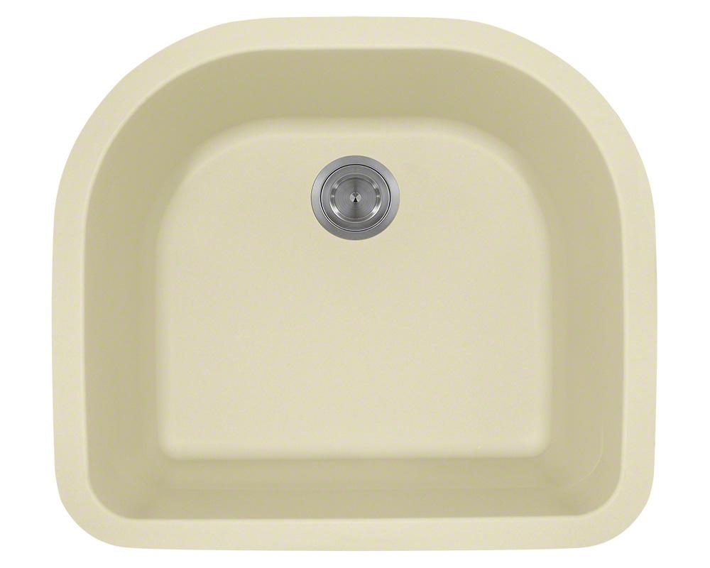 Polaris P428 Beige D-Bowl Astragranite Kitchen Sink