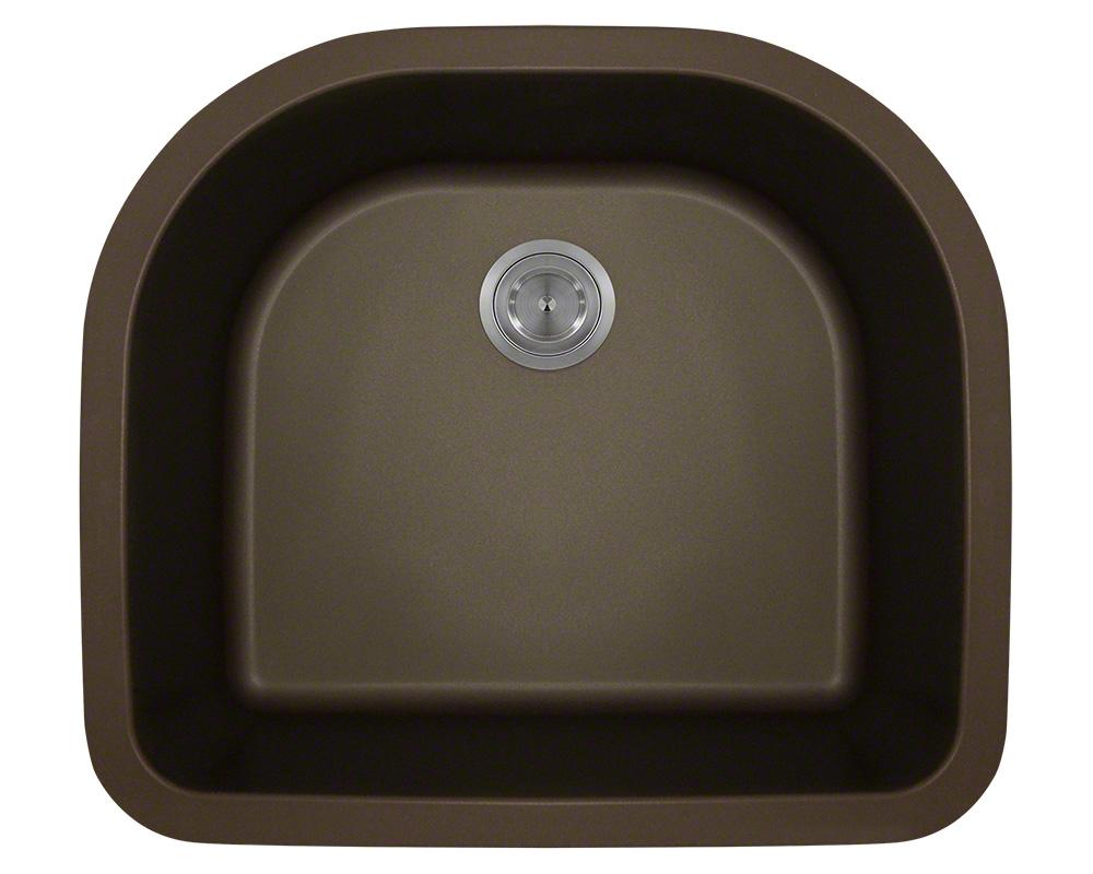 Polaris P428 Mocha D-Bowl Astragranite Kitchen Sink