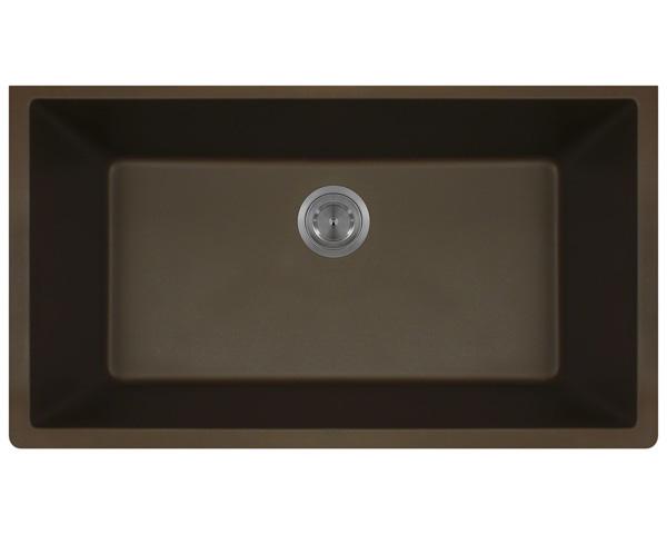 Polaris P828 Mocha Astragranite Single Bowl Kitchen Sink