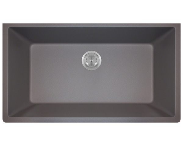 Polaris P828 Silver Astragranite Single Bowl Kitchen Sink