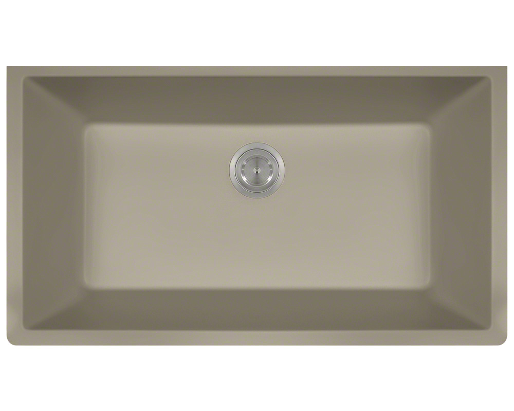 Polaris P828 Slate Astragranite Single Bowl Kitchen Sink