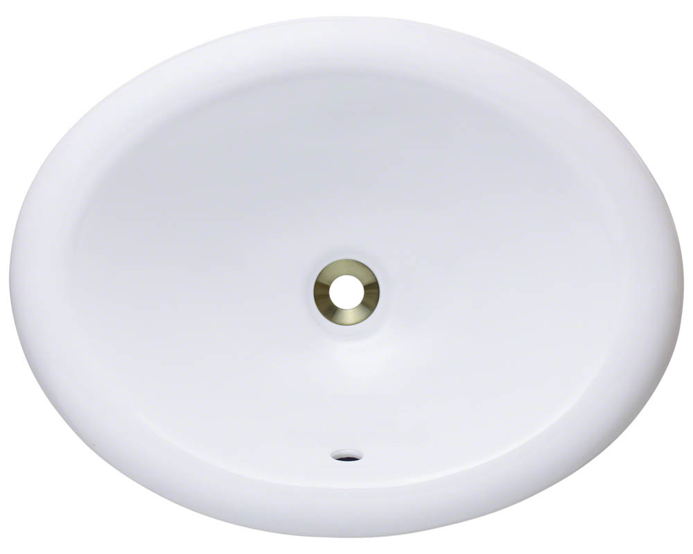 Polaris P7191-w White Porcelain Overmount Vanity Bowl