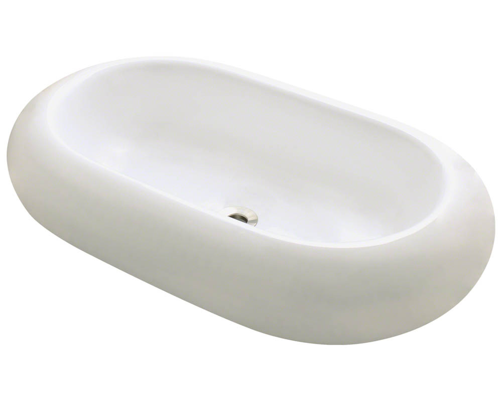 Polaris P031V-b Bisque Pillow Top Porcelain Vessel Sink