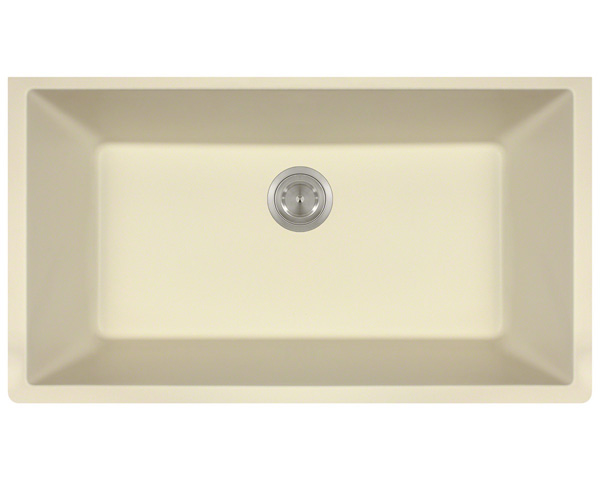 Polaris P828 Beige Astragranite Single Bowl Kitchen Sink